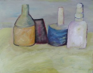 Barbara painting inspired by Morandi
