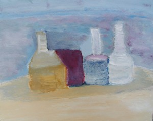 Glenn L. painting inspired by Morandi
